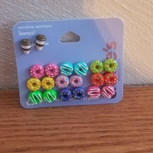 Claire's 10 pack donut earrings